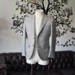 お客様のジャケットの紹介-Tallia Di Delfinoベージュチェックジャケット-