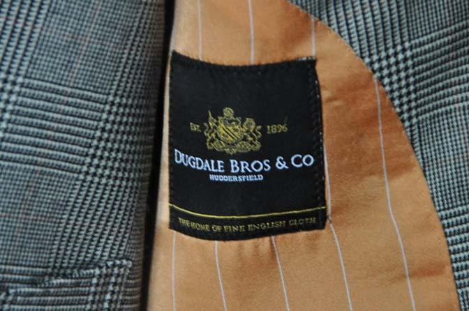 DSC20122 お客様のスーツの紹介- DUGDALE グレンチェック ダブルベスト-