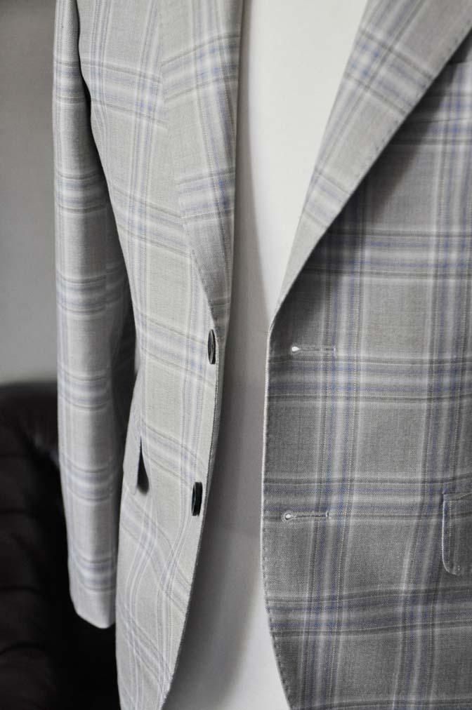 DSC2013-1 お客様のジャケットの紹介-Tallia Di Delfinoベージュチェックジャケット- 名古屋の完全予約制オーダースーツ専門店DEFFERT