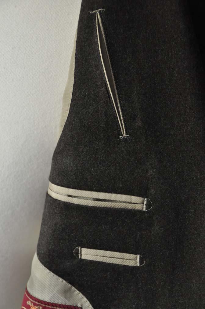 DSC20515 お客様のフランネルジャケットの紹介-CANONICO 無地ブラウンフランネルジャケット-