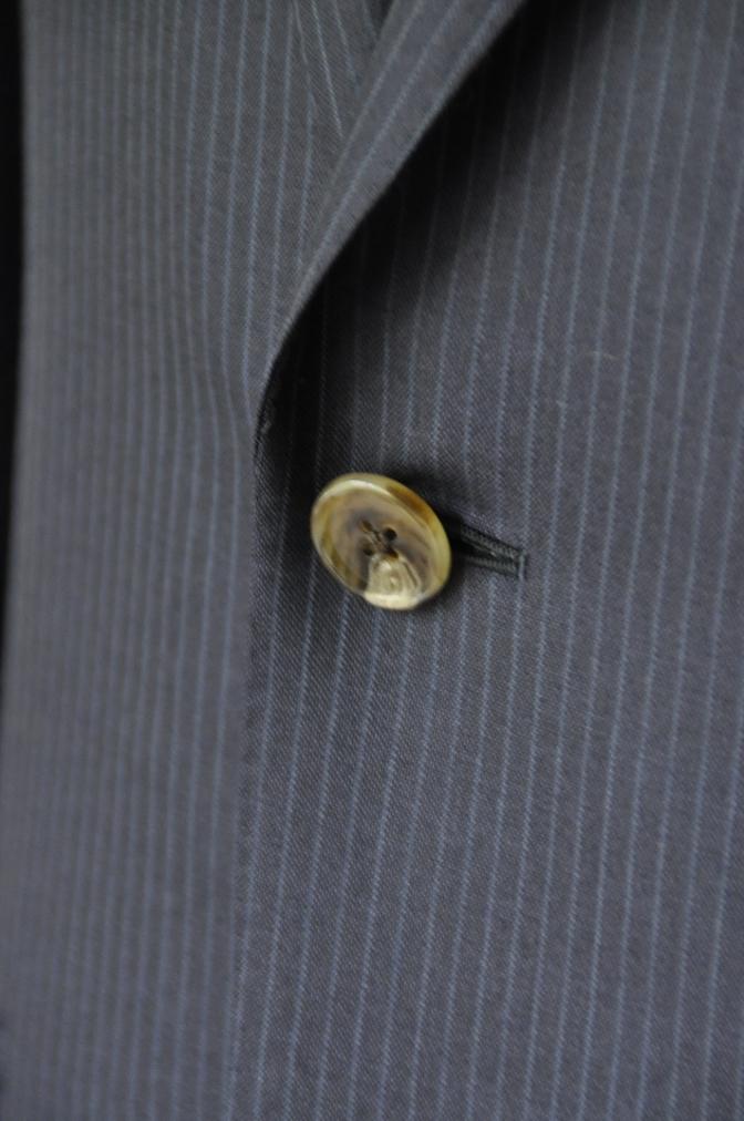 DSC20521 お客様のスーツの紹介-ALFRED BROWN ネイビーストライプ- 名古屋の完全予約制オーダースーツ専門店DEFFERT