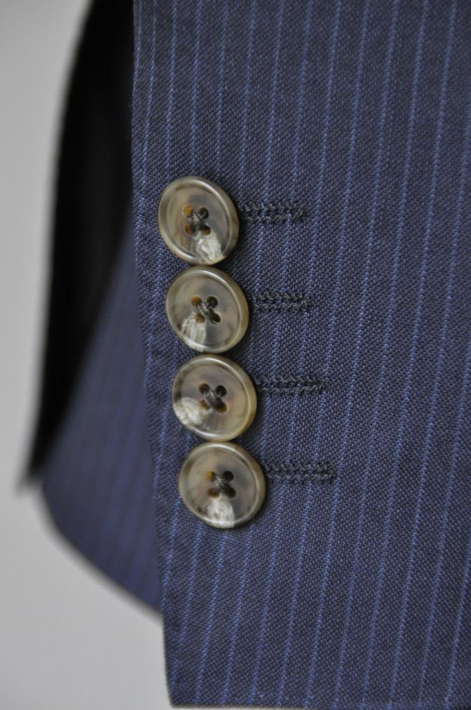 DSC20551 お客様のスーツの紹介-ALFRED BROWN ネイビーストライプ- 名古屋の完全予約制オーダースーツ専門店DEFFERT