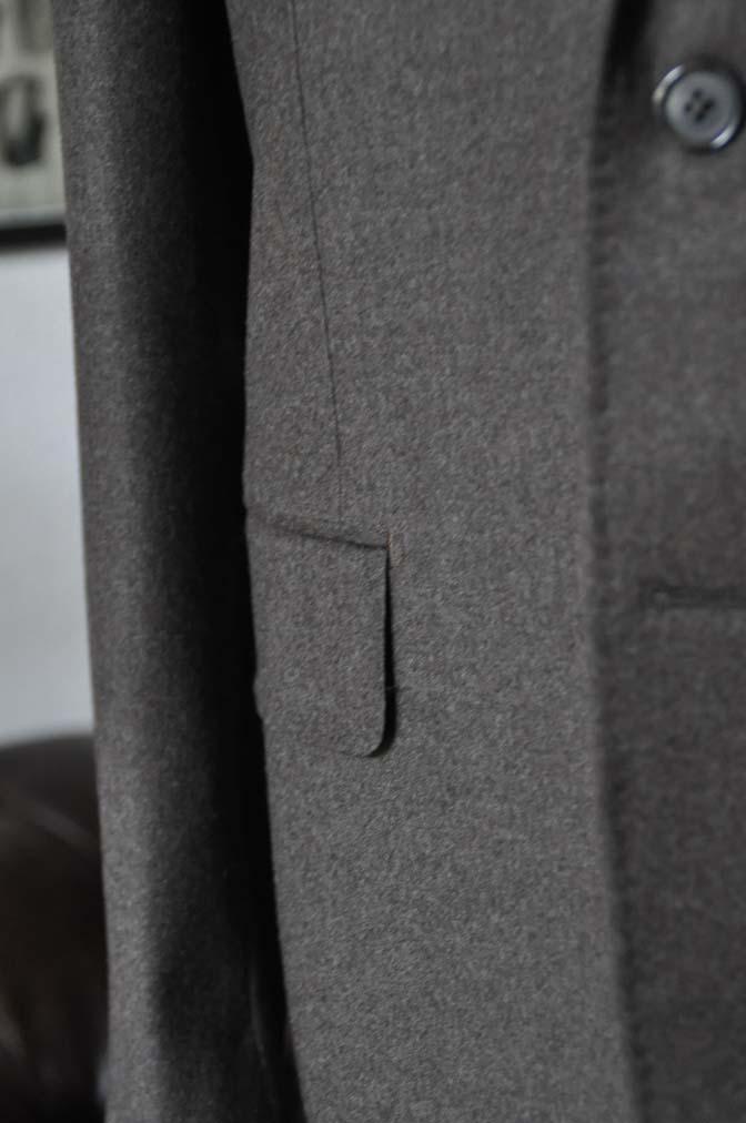 DSC20572 お客様のフランネルジャケットの紹介-CANONICO 無地ブラウンフランネルジャケット-