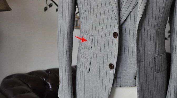 ジャケットの腰ポケットの種類 「チェンジポケット」