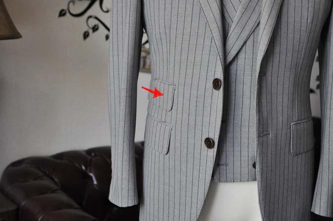 DSC2097-1 ジャケットの腰ポケットの種類 名古屋の完全予約制オーダースーツ専門店DEFFERT