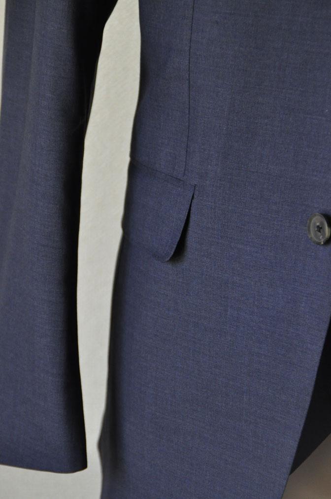 DSC21141 お客様のスーツの紹介-CANONICO 無地ネイビースリーピーススーツ -