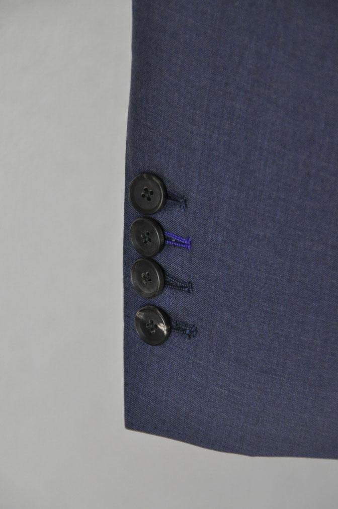 DSC21151 お客様のスーツの紹介-CANONICO 無地ネイビースリーピーススーツ -