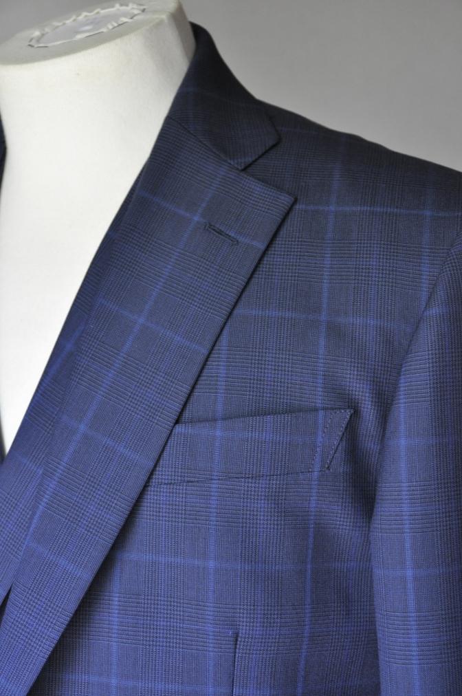 DSC2130 お客様のスーツの紹介-BIELLESI ネイビーチェック-