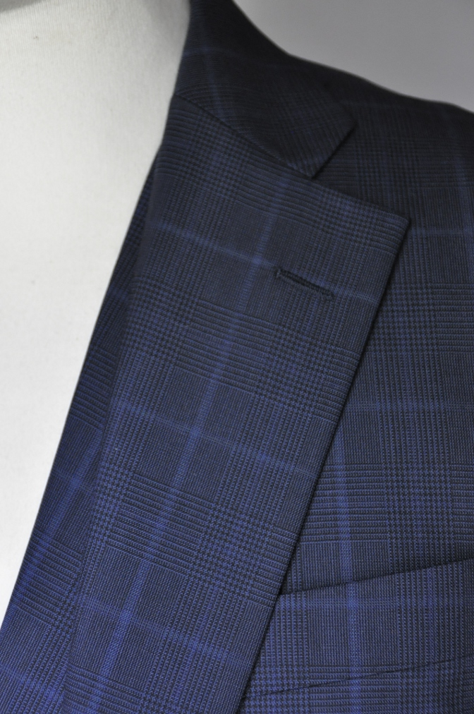 DSC2131 お客様のスーツの紹介-BIELLESI ネイビーチェック-