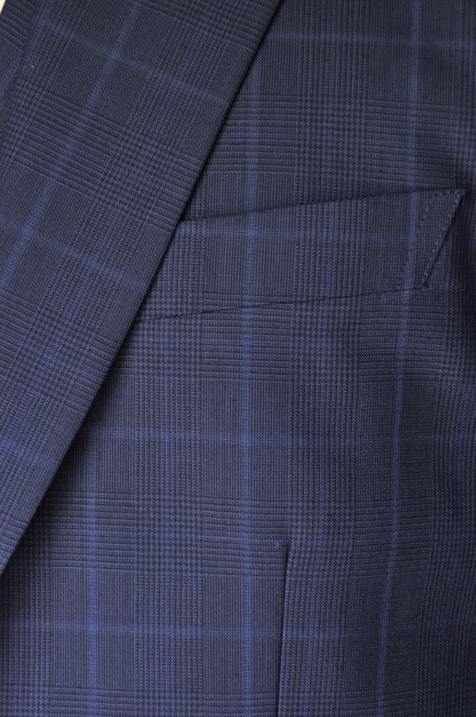 DSC2132 お客様のスーツの紹介-BIELLESI ネイビーチェック-