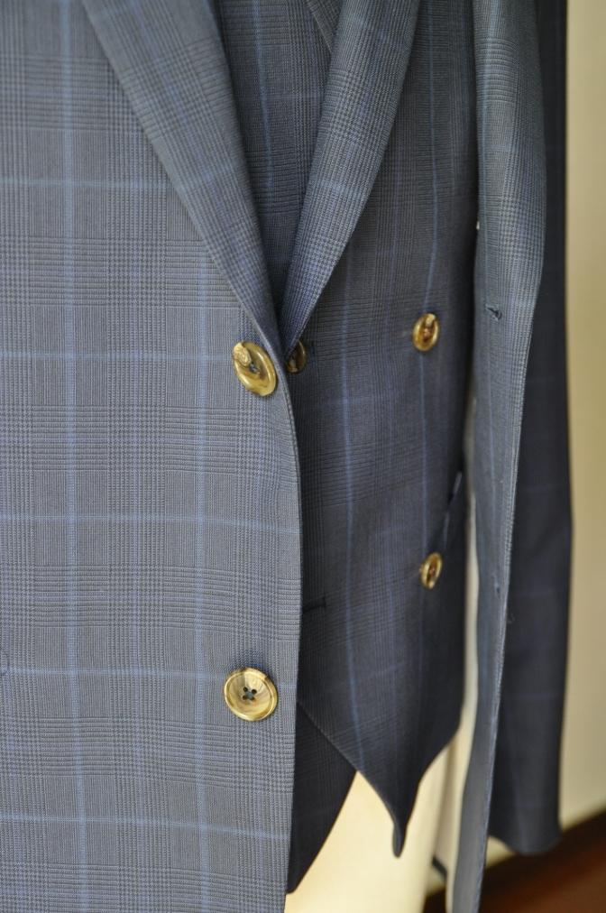 DSC2134 お客様のスーツの紹介-BIELLESI ネイビーチェック-