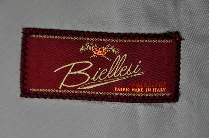 DSC2139 お客様のスーツの紹介-BIELLESI ネイビーチェック-