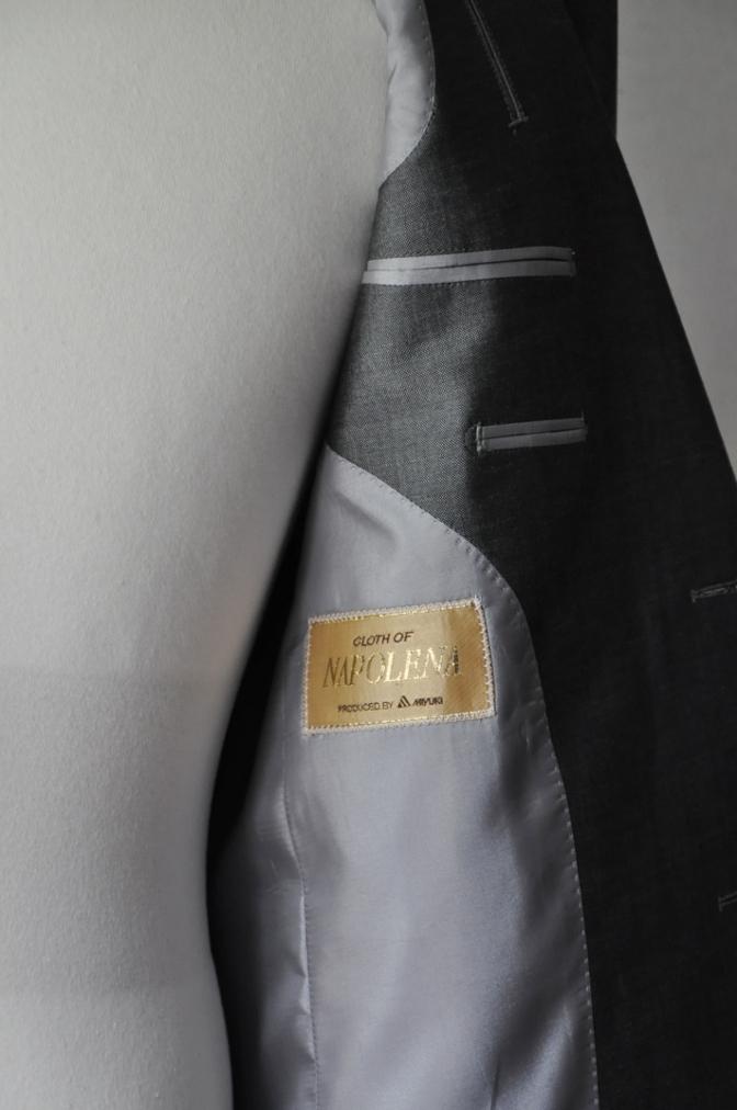 DSC2149 お客様のスーツの紹介- 御幸毛織 NAPOLENA(ナポレナ) 無地グレーモヘア-