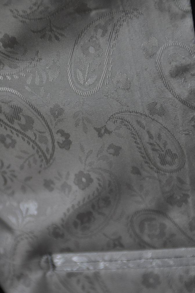 DSC2168 お客様のスーツの紹介-ブラックヘリンボーン -