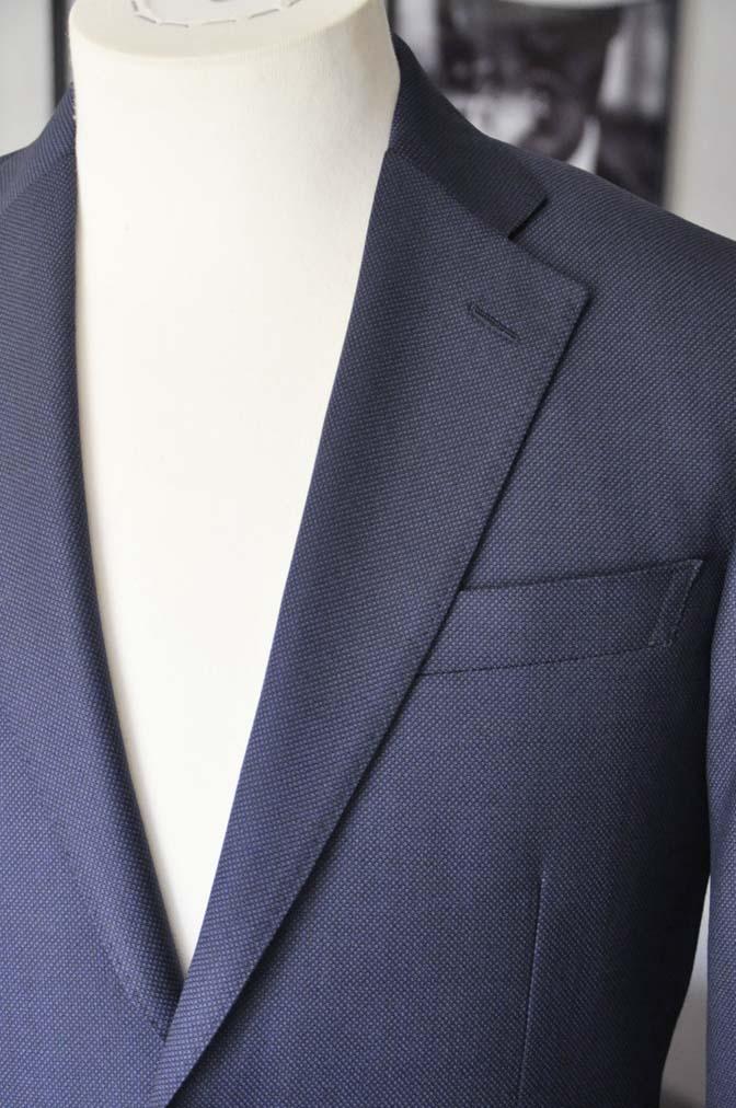 DSC2192 お客様のスーツの紹介- Biellesi ネイビーバーズアイ スーツ-