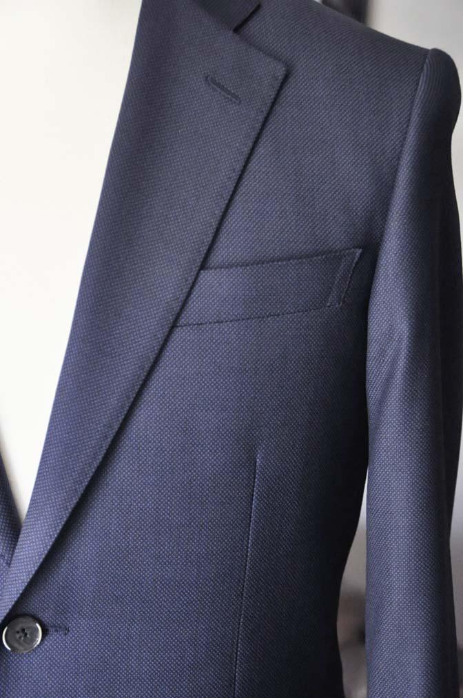 DSC21931 お客様のスーツの紹介- Biellesi ネイビーバーズアイ スーツ-