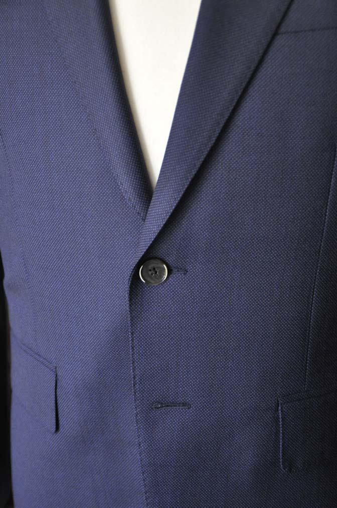 DSC21941 お客様のスーツの紹介- Biellesi ネイビーバーズアイ スーツ-