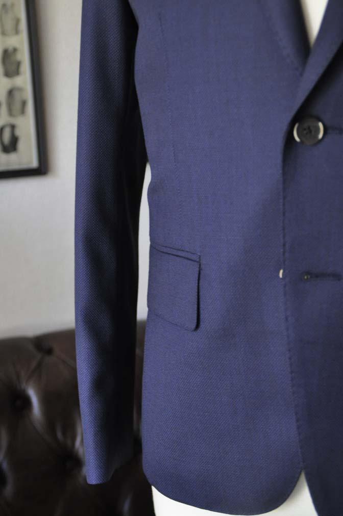 DSC21951 お客様のスーツの紹介- Biellesi ネイビーバーズアイ スーツ-