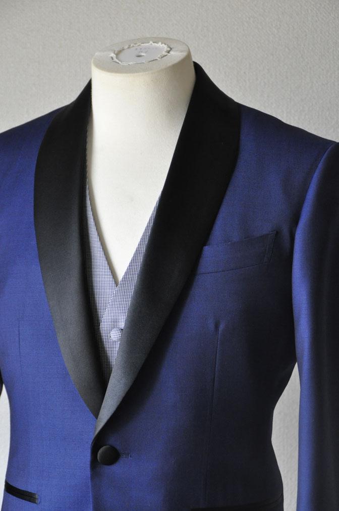 DSC2208 お客様のウエディング衣装の紹介-ネイビータキシード- 名古屋の完全予約制オーダースーツ専門店DEFFERT