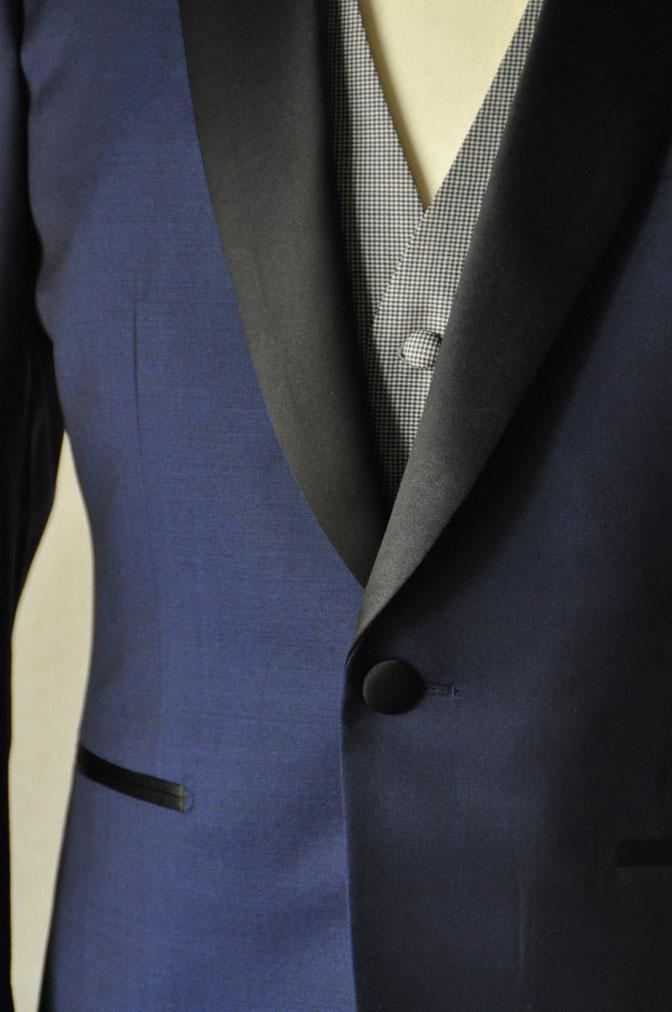 DSC2212 お客様のウエディング衣装の紹介-ネイビータキシード- 名古屋の完全予約制オーダースーツ専門店DEFFERT