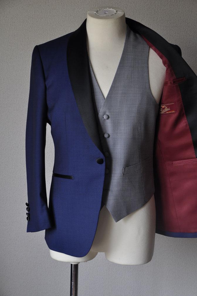 DSC22161 お客様のウエディング衣装の紹介-ネイビータキシード- 名古屋の完全予約制オーダースーツ専門店DEFFERT