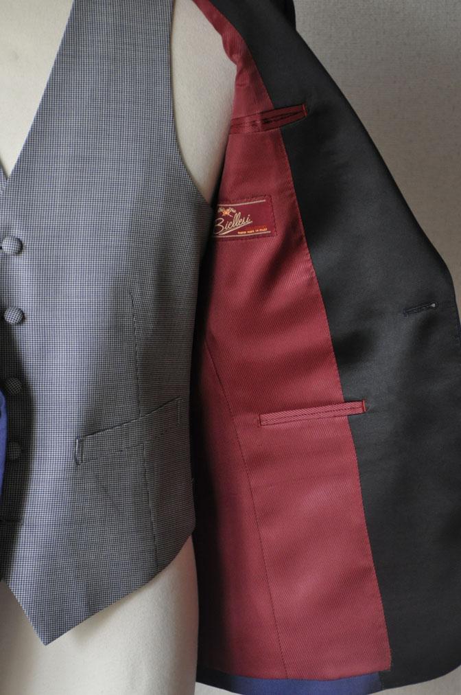 DSC22171 お客様のウエディング衣装の紹介-ネイビータキシード- 名古屋の完全予約制オーダースーツ専門店DEFFERT