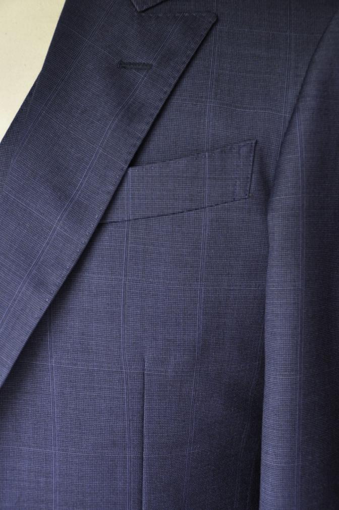 DSC22201 お客様のスーツの紹介- BIELLESI ネイビーチェックスリーピース-