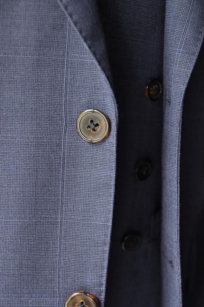 DSC2221 お客様のスーツの紹介- BIELLESI ネイビーチェックスリーピース-