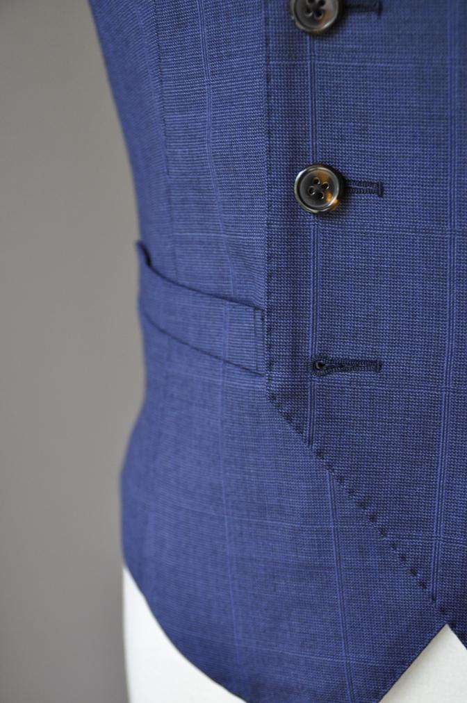 DSC2230 お客様のスーツの紹介- BIELLESI ネイビーチェックスリーピース-
