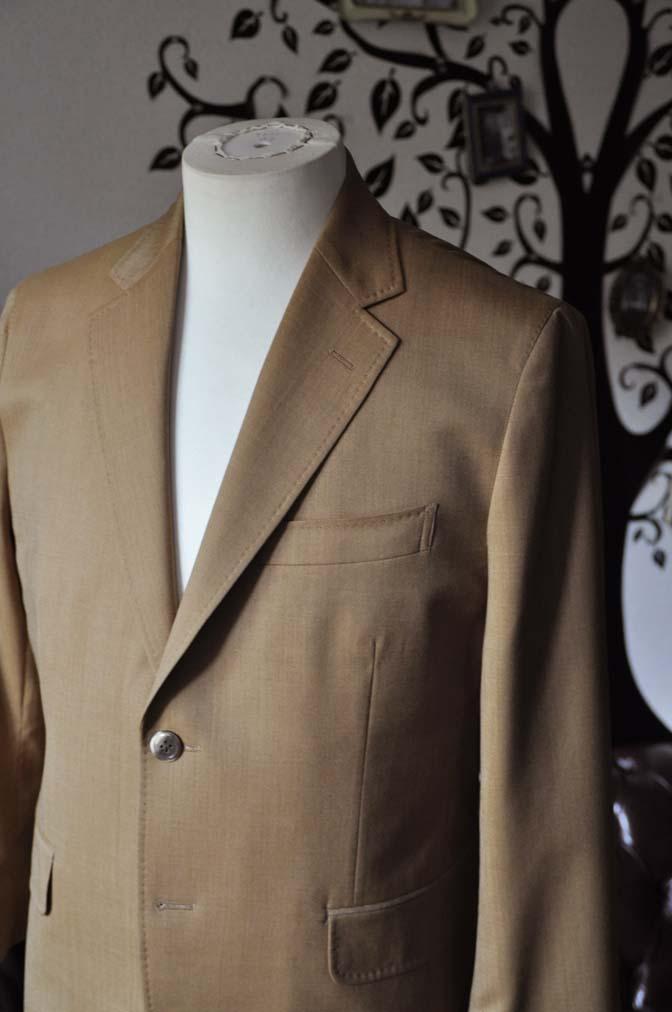 DSC2238-1 お客様のセットアップスーツの紹介-御幸毛織 無地ブラウンセットアップ- 名古屋の完全予約制オーダースーツ専門店DEFFERT