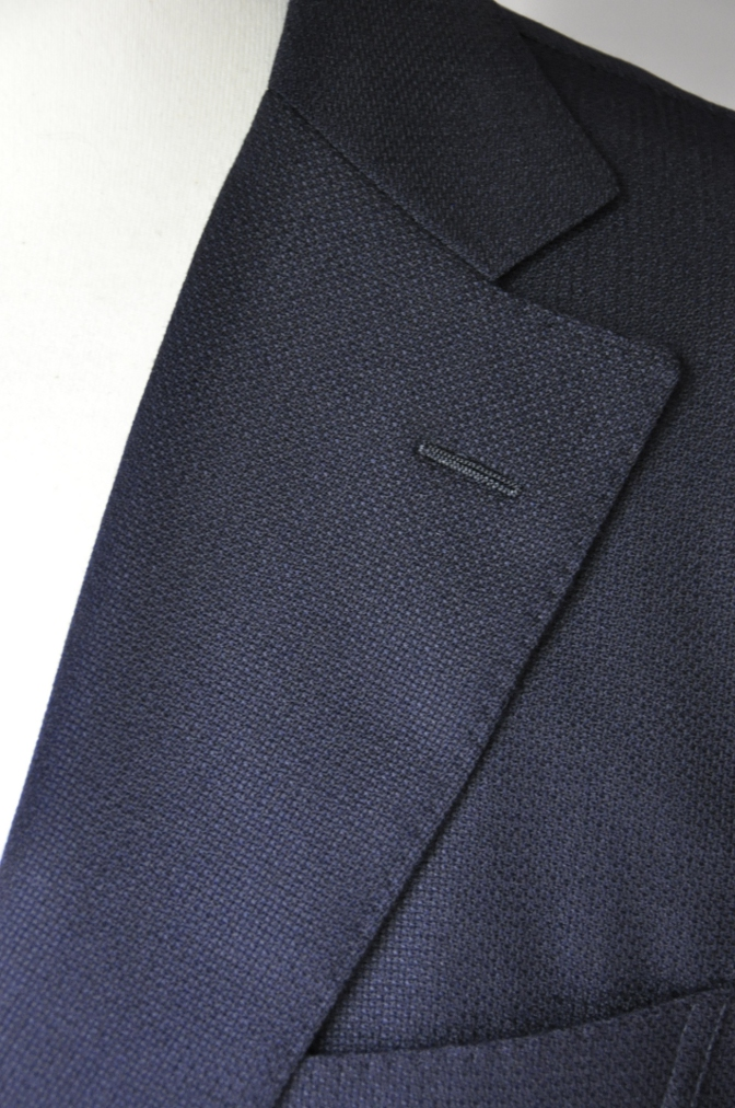 DSC2238 お客様のスーツの紹介-CANONICO ネイビーホップサックジャケット-