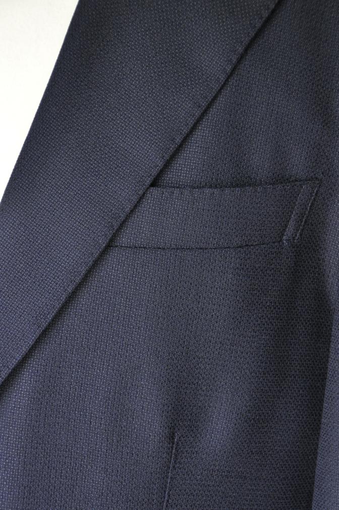 DSC2239 お客様のスーツの紹介-CANONICO ネイビーホップサックジャケット-