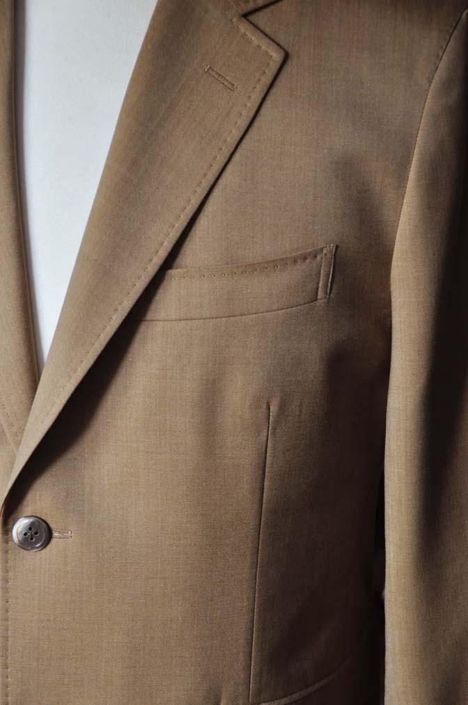 DSC2241-1 お客様のセットアップスーツの紹介-御幸毛織 無地ブラウンセットアップ- 名古屋の完全予約制オーダースーツ専門店DEFFERT