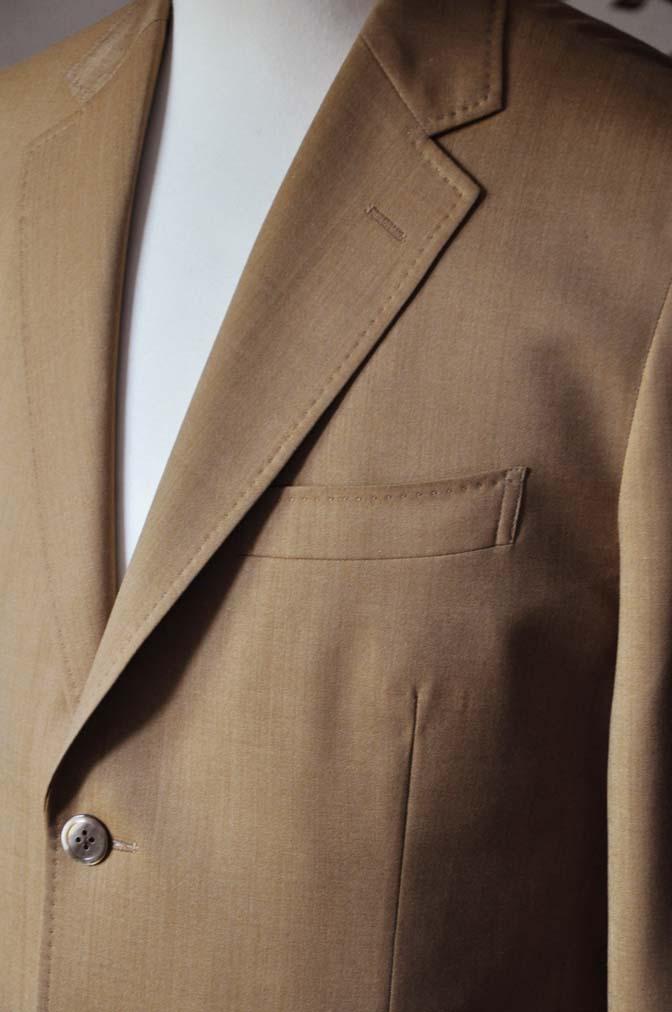 DSC2242-1 お客様のセットアップスーツの紹介-御幸毛織 無地ブラウンセットアップ- 名古屋の完全予約制オーダースーツ専門店DEFFERT