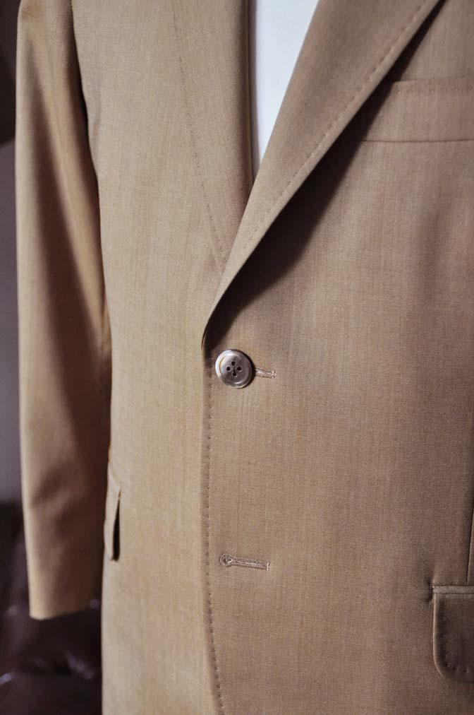 DSC2243-1 お客様のセットアップスーツの紹介-御幸毛織 無地ブラウンセットアップ- 名古屋の完全予約制オーダースーツ専門店DEFFERT