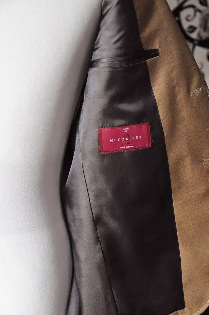 DSC2246-1 お客様のセットアップスーツの紹介-御幸毛織 無地ブラウンセットアップ- 名古屋の完全予約制オーダースーツ専門店DEFFERT