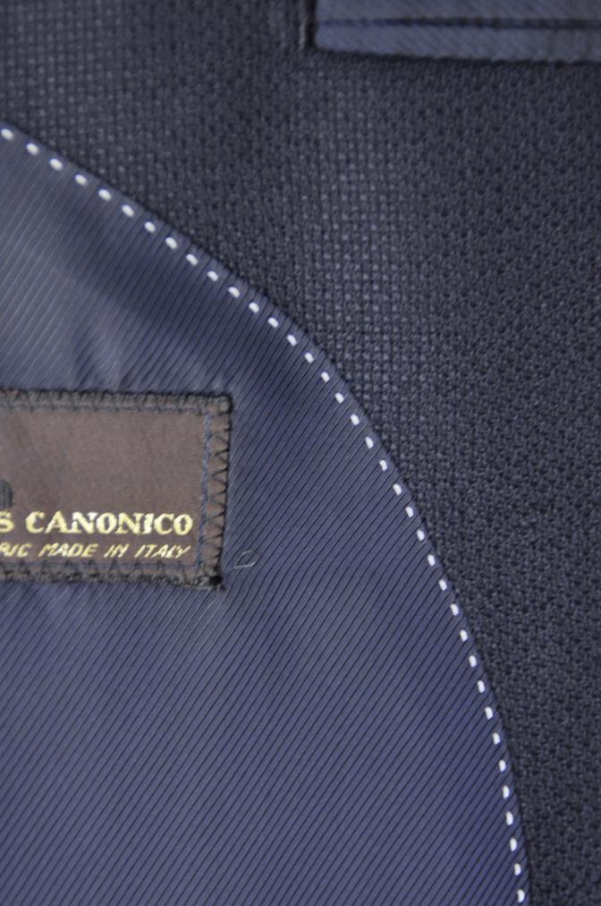 DSC22471 お客様のスーツの紹介-CANONICO ネイビーホップサックジャケット-