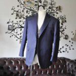 お客様のウエディング衣装の紹介- Biellesi無地ネイビースーツ グレーベスト-