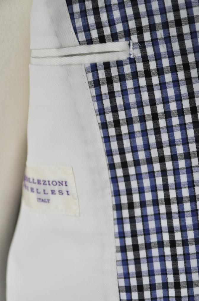 DSC2256 お客様のジャケットの紹介- Collezioni Biellesi ブルーチェックシアサッカー-