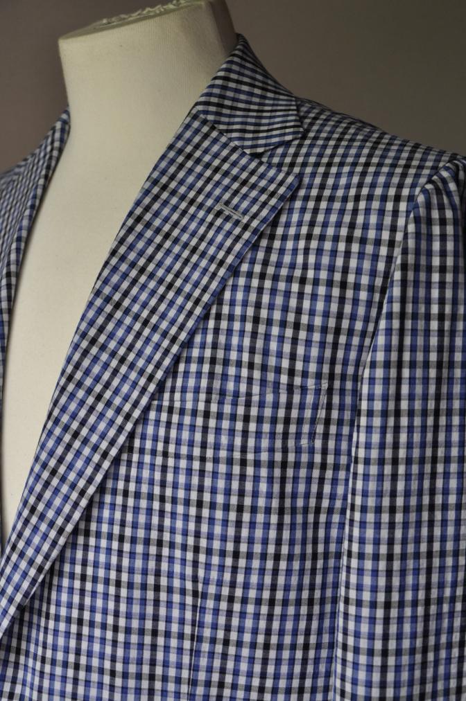 DSC2257 お客様のジャケットの紹介- Collezioni Biellesi ブルーチェックシアサッカー-