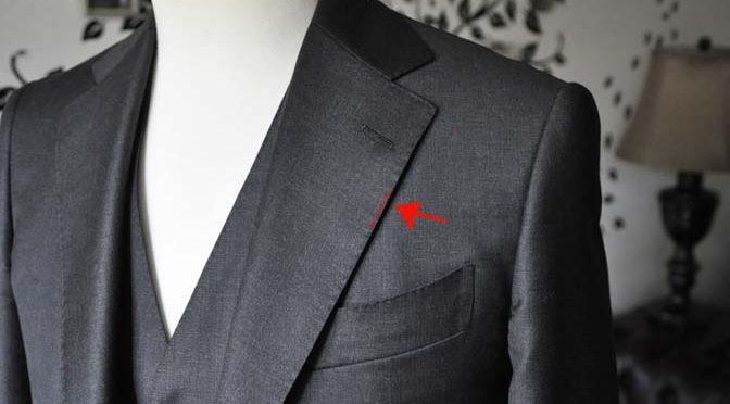 スーツのパーツ名称「AMFステッチ」