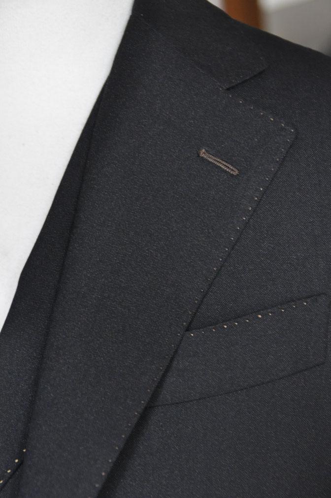 DSC22941 スーツの紹介-LoroPiana 無地ダークブラウン ダブルジレスリーピース -