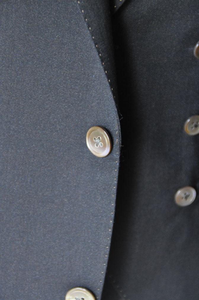 DSC2298 スーツの紹介-LoroPiana 無地ダークブラウン ダブルジレスリーピース -