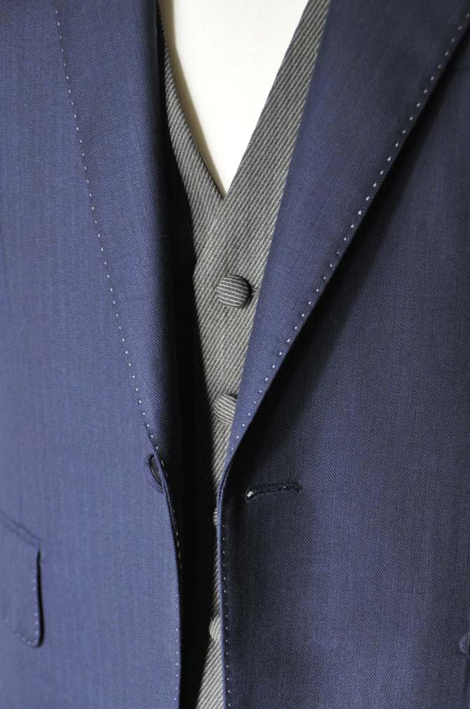 DSC2301-1 お客様のウエディング衣装の紹介- DARROW DALE ネイビースーツ グレーベスト ブラウンベスト-DSC2301-1 お客様のウエディング衣装の紹介- DARROW DALE ネイビースーツ グレーベスト ブラウンベスト- 名古屋市のオーダータキシードはSTAIRSへ