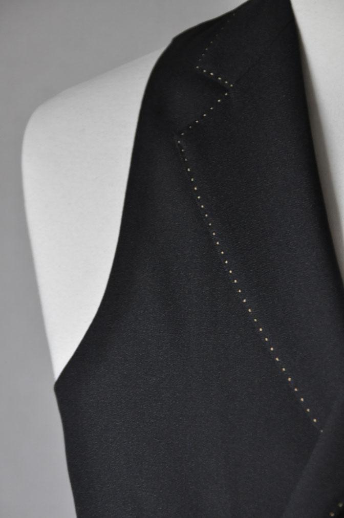 DSC2321 スーツの紹介-LoroPiana 無地ダークブラウン ダブルジレスリーピース -