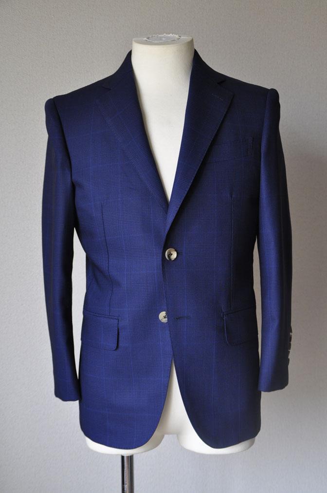 DSC23451 お客様のスーツの紹介-LoroPiana ネイビチェックスーツ - 名古屋の完全予約制オーダースーツ専門店DEFFERT