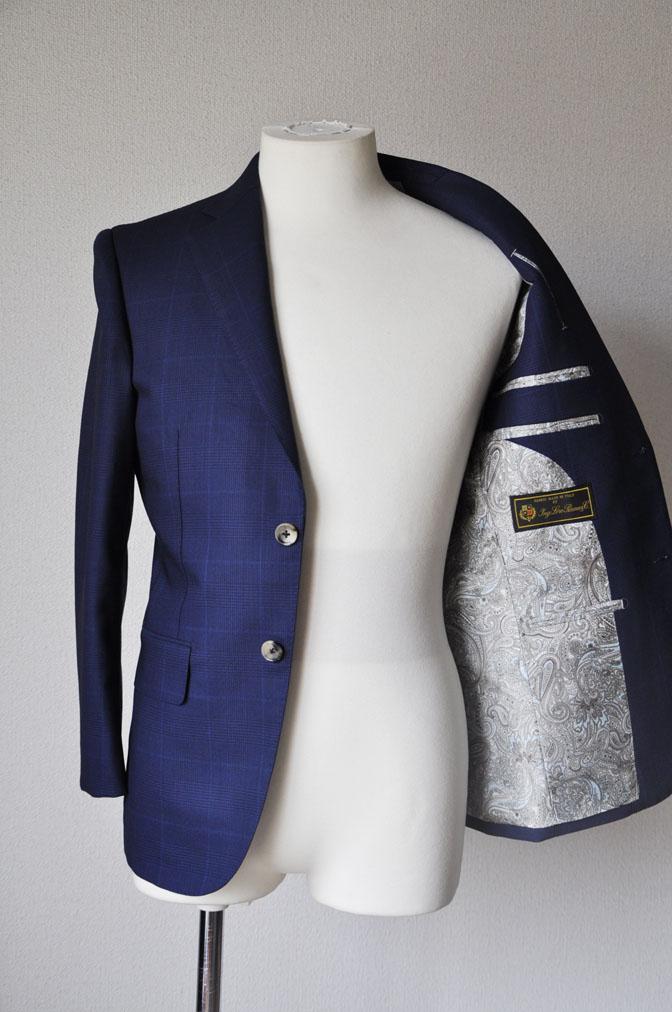 DSC2346 お客様のスーツの紹介-LoroPiana ネイビチェックスーツ - 名古屋の完全予約制オーダースーツ専門店DEFFERT