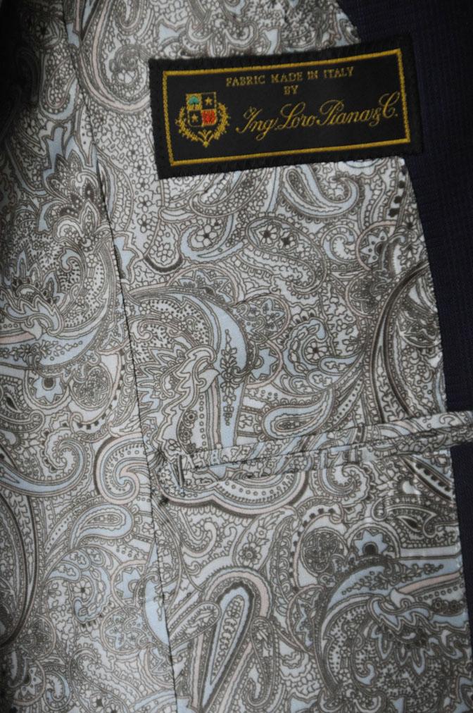 DSC2348 お客様のスーツの紹介-LoroPiana ネイビチェックスーツ - 名古屋の完全予約制オーダースーツ専門店DEFFERT