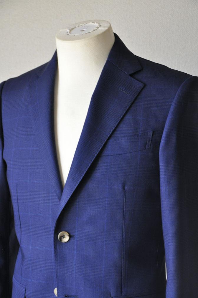 DSC2351 お客様のスーツの紹介-LoroPiana ネイビチェックスーツ - 名古屋の完全予約制オーダースーツ専門店DEFFERT