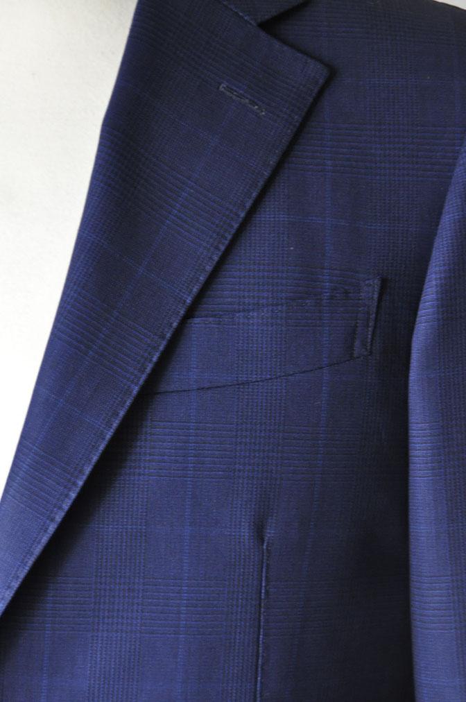 DSC2353 お客様のスーツの紹介-LoroPiana ネイビチェックスーツ - 名古屋の完全予約制オーダースーツ専門店DEFFERT